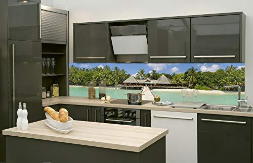 DIMEX LINE Küchenrückwand Folie selbstklebend HAFENDAMM   Klebefolie - Dekofolie - Spritzschutz für Küche   Premium QUALITÄT - Made in EU   260 cm x 60 cm