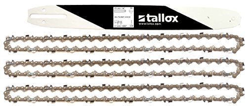 tallox 3 chaînes de tronçonneuses et 1 Guide-chaînes 3 8  1,1 mm 50 maillons Longueur de Guide-chaîne 35 cm Compatible avec Stihl