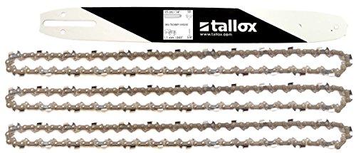 tallox 1 Espada y 3 Cadenas de Sierra 3/8' 1,1 mm 50 eslabones 35 cm Compatible con Stihl