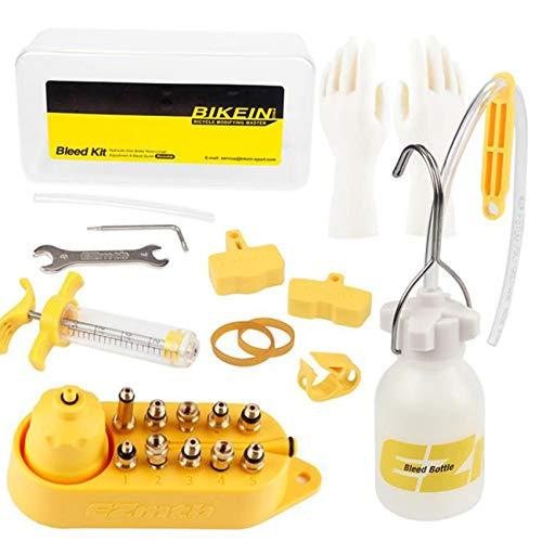 Herramientas de Kit de Purga de Aceite de Freno de Disco hidráulico de Bicicleta para Shimano, SRAM, TEKTRO, MAGURA Series MTB Road Bike Brake Repair Tool-Yellow