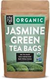 Organic Jasmine Green Tea Bags | 100 Tea Bags | Jasmine Scented Green Tea | Eco-Conscious Tea Bags in Kraft Bag | by FGO