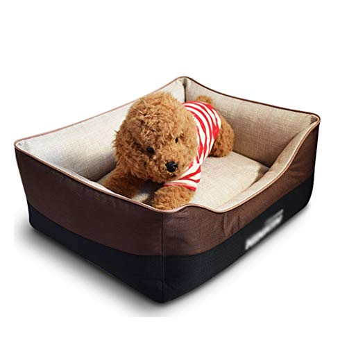 HYJBGGH Dog Beds Orthopaedic For Small,Medium Or Large Dogs, Pet Bed With Machine Washable Comfortable And Safety,Bichon Bulldog Labrador Golden Retriever, Pet Supplies (Color : Brown-XL)