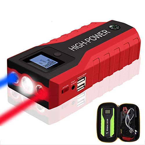 Buy Discount HYM Car Jump Starter, 400A 12000mAh Car Battery Booster (Up to 6.0L Gas, 5.0L Diesel En...