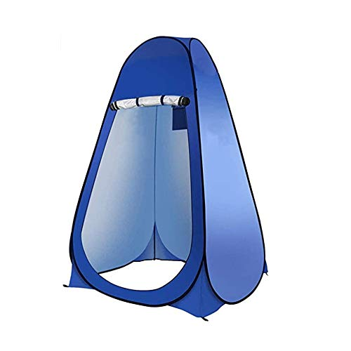 Winter Pop-up toilet tent, shower room toilet changing room foldable and portable beach changing tent outdoor shade tent blue, suitable for camping, hiking, fishing