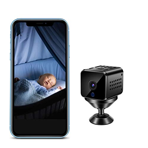 Mini Camera, 1080p HD Camera Wireless with Audio, Night Vision Motion Detection Surveillance Portable Nanny Cameras Phone APP Baby Monitors Security Sports Camera Indoor Cam