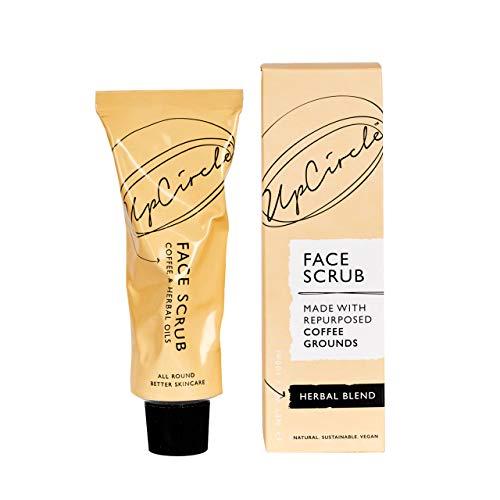UpCircle Kaffee-Gesichtspeeling – Kräutermischung für fettige Mischhaut 100 ml – natürliches, veganes Gesichtspeeling für weiche, glatte Haut