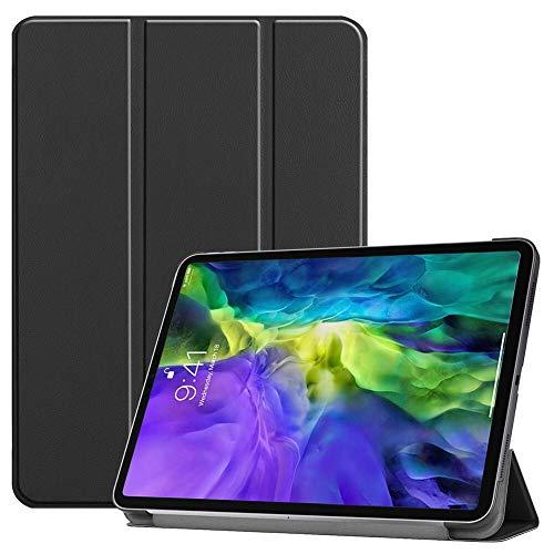 RZL Pad y Tab Fundas para iPad Pro 11inch 2018 2020, Auto Wake/Sleep Cuero Tri-Dobling Stand SHELE Protective SHEP Skin Tablet Smart Case para iPad Pro 11Inch 2018 2020 (Color : Negro)