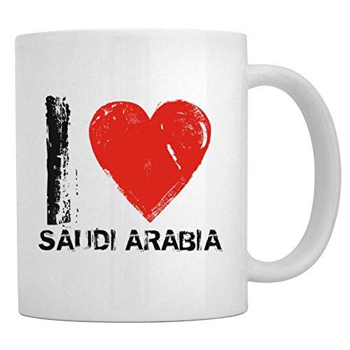 Teeburon I Love Saudi Arabia Vintage Tasse