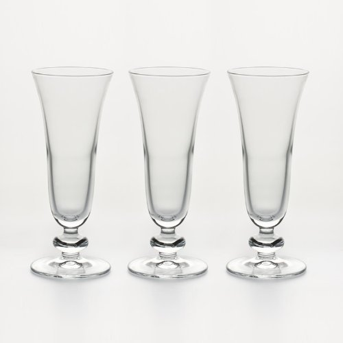 Pasabahce 1613392 Verre Sophia Flute 18 CL (Lot de 3), Transparent, 18cl