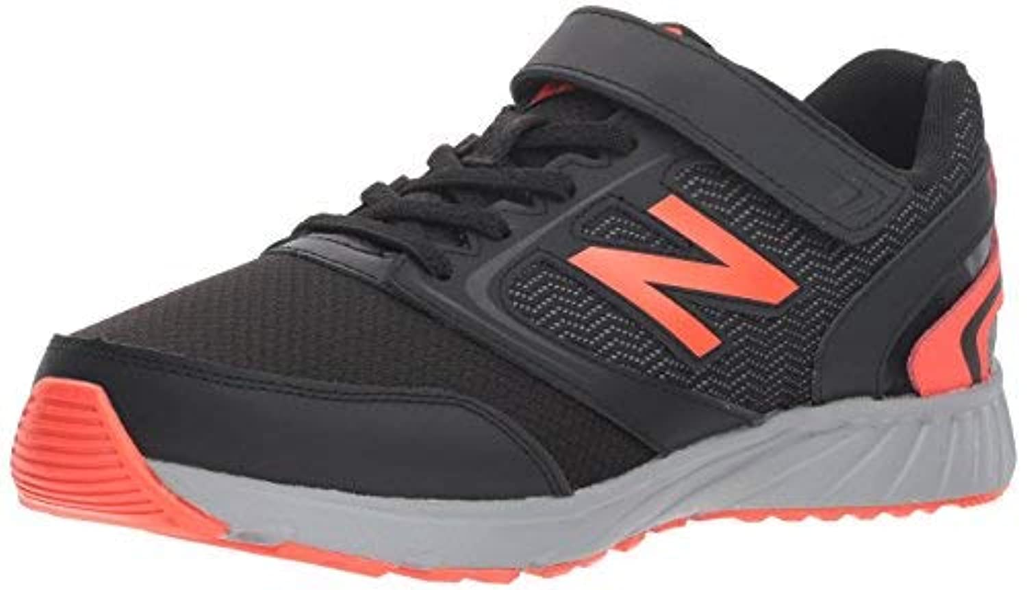 New Balance Boys' 455v1 Running Shoe Black/Flame KA 13.5 M US Little Kid [並行輸入品]