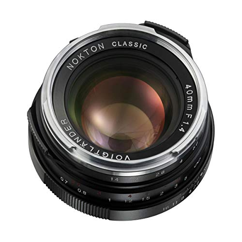 Voigtlander Nokton 40mm f/1.4 Leica M Mount Lens Single Coat- Black
