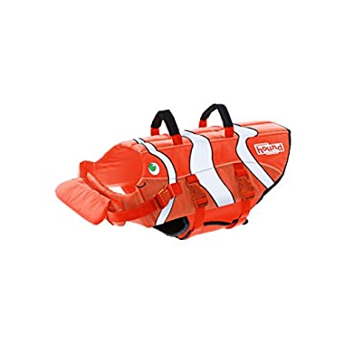 Outward Hound Dog Life Jacket Ripstop Life Jacket for Dogs by, Medium, Fun Fish