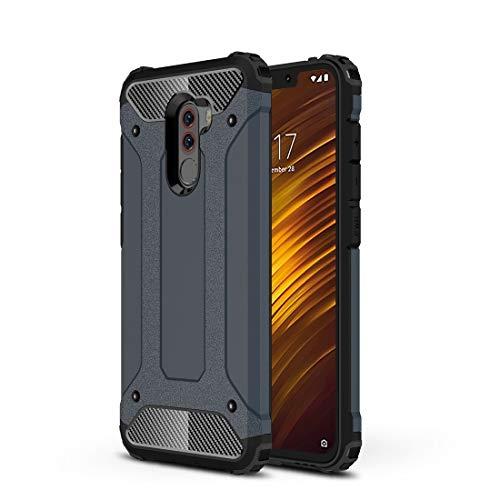 Casi Xiaomi Diamond Armor PC + TPU Custodia Protettiva for dissipazione di Calore for Xiaomi Pocophone F1 (Nero) Casi Xiaomi (Colore : Navy Blue)