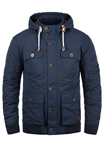 Blend Ciro Herren Übergangsjacke Herrenjacke Jacke mit Kapuze, Größe:L, Farbe:Navy (70230)