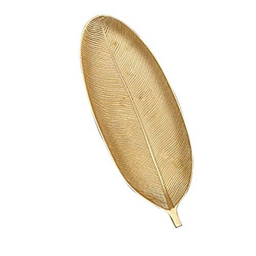 Yililay Snacks Madera Bandeja Hoja del plátano Forma de Cesta propósito de múltiples bandejas de Almacenamiento de Frutas secas de sobremesa Caramelo Placa de la Fruta Tazón casa decoración de Oro