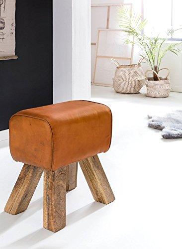 KadimaDesign Taburete Turnbock de diseño marrón 40 x 30 x