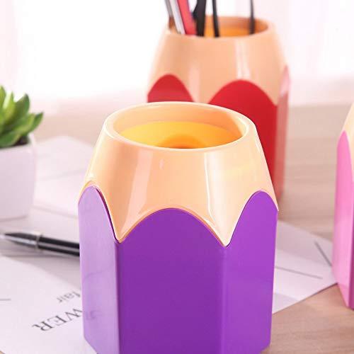 RoxTop Kreativstift Vase Bleistift Topf Stifthalter Container Briefpapier Kunststoff Schreibtisch-Organisator Tidy Container Schule Bürobedarf