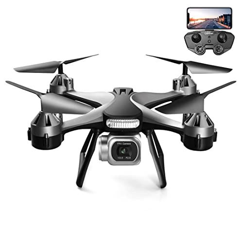XIAOKEKE Drone con Telecamera 4K FHD, Controllo dei Gesti, Volo Circolare, Rotazione Ad Alta velocità, modalità Hovering, modalità Headless Adatto Ai Principianti (2 Batterie),Nero