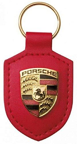 Portachiavi Porsche in pelle crestata WAP0500920E