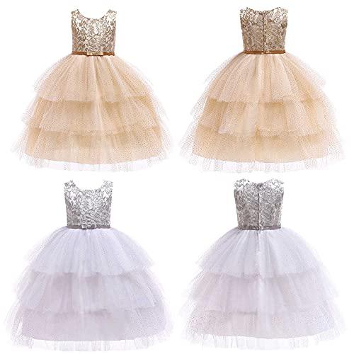 YQSR Vestido para beb o nia de cumpleaos, fiesta de princesa, vestido de Navidad, vestido de fiesta