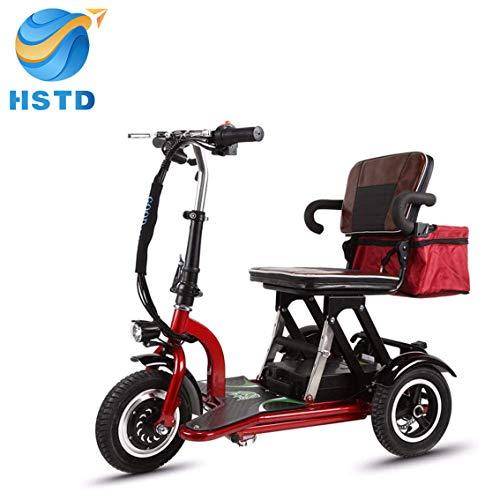 XCBY 3 Räder Elektroscooter, Seniorenmobil Dreirad, 300w Motor, Faltbar, Reversibel, 20 Km/H, 3-Gang-Einstellung, Geeignet FüR äLtere Menschen, Behinderte, Erwachsene 40KM
