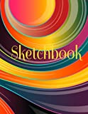 Sketchbook: Abstract Swirls of Color Sketchbook. Great for Beginners, Students, Artists, Kids, Preteen, Teen and Adults'
