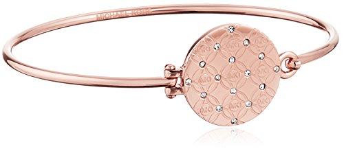 Michael Kors MK Etched Monogram Top Tension Bangle Bracelet