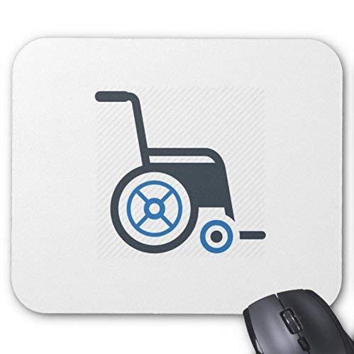 Mousepad Rollstuhl in weißem Hintergrund drucken Mausmatte