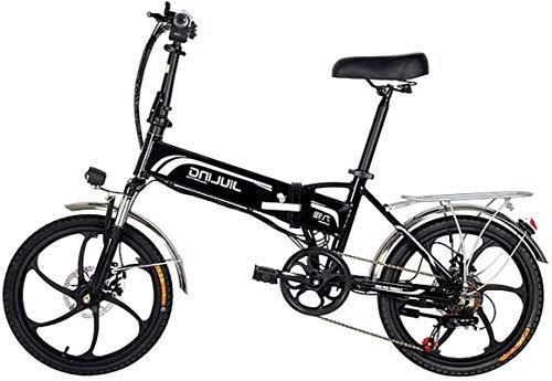 Bicicleta eléctrica de nieve, Plegable bicicleta eléctrica E-bici, 20' bicicleta eléctrica de 48V con 10,5 / 12.5Ah extraíble de iones de litio, 350W Motor y profesional 7 Speed Gear Batería de liti