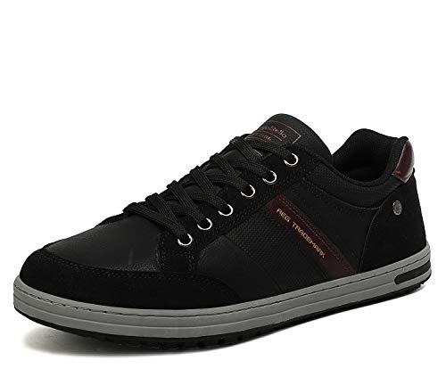 AX BOXING Freizeitschuhe Herren Walkingschuhe Berufsschuhe Sneaker Wanderschuhe Trainers(43 EU, Kohlenschwarz)