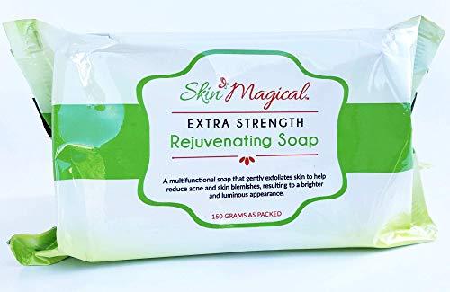 Skin Magical Extra Strength Rejuvenating Papaya with Glycolic & Lactic Acid Soap, 150g - Skin Whitening & Moisturizing