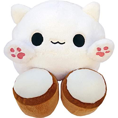 moodrush® Bongo Cat Meme Plüsch Kissen | Kuscheltier | alle Elemente aufgestickt (Nicht Bedruckt!) | waschbar | ca. 37x27 cm