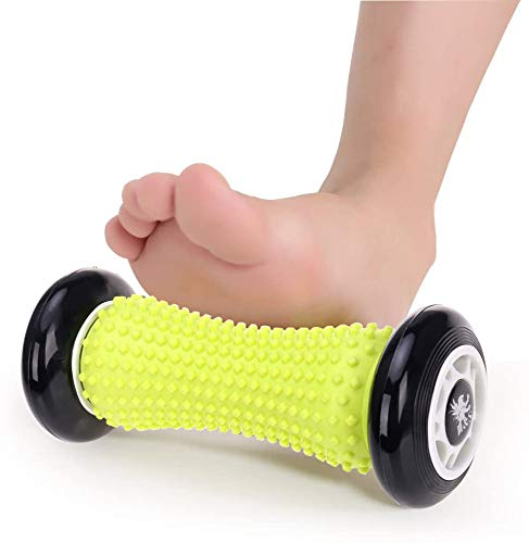 Pejoye Fußmassagewalze, Akupressur-Reflexzonenmassage-Massagestäbchen Handgelenke Unterarme Übungsmassagerolle zur Regeneration der Plantarfasziitis und Verspannungen der Muskeln (Schwarz)