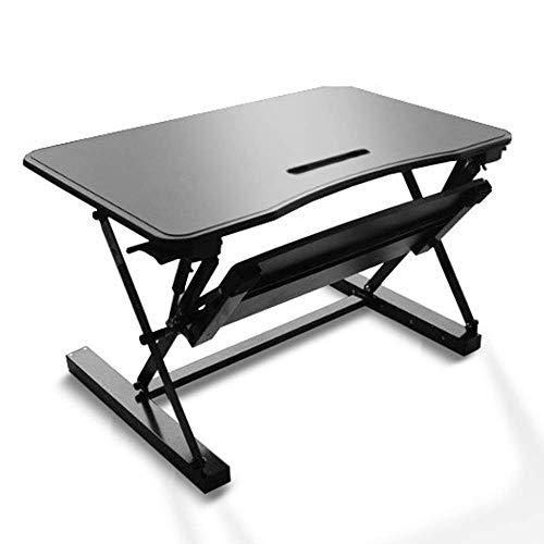 Escritorio para computadora de escritorio de pie saludable para computadora de escritorio, altura ajustable Escritorio de pie elevando y bajando a varias posiciones para comodidad ergonómica ZHNGHENG
