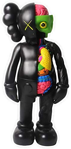"Prototype KAWS Original Fake Dissected Companion Model Art Toys Action Figure Collectible Model Toy 8"" 20cm (Black)"