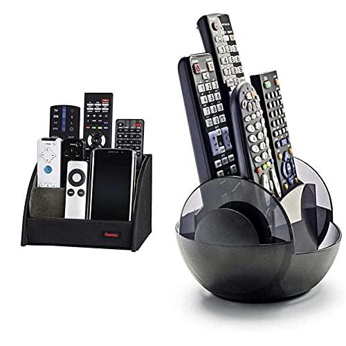 Oferta de Hama 84035 - Organizador de Material de Escritorio, Negro + Meliconi 458100 - Portamandos Giratorio, 4 mandos