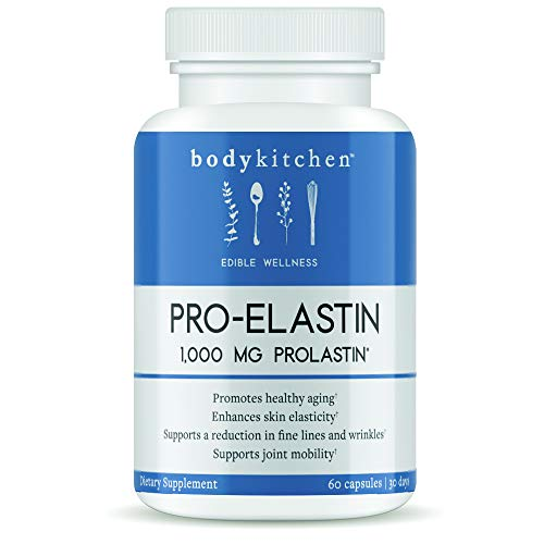 Body Kitchen - Pro-Elastin, Elastin Support Supplement to Help Reduce Signs of Aging, Improved Skin Health, 60ct
