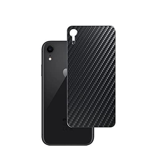 VacFun 2 Piezas Protector de pantalla Posterior, compatible con iPhone XR 6.1 inch, Película de Trasera de Fibra de carbono negra Skin Piel