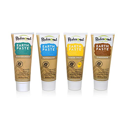 Redmond Earthpaste Natural Non-Fluoride Toothpaste, 4 Pack...