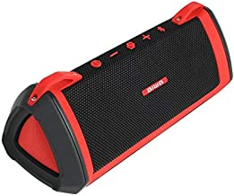 Aiwa Exos-3 Bluetooth Speaker (Red/Black) - Waterproof, Rugged - Serious Acoustic Performance