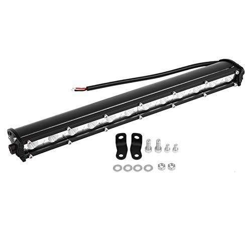 Barra de luz LED, acrílico 13 pulgadas 36W LED Barra de luz de trabajo delgada Lámpara de conducción para automóvil, camión, todoterreno, SUV