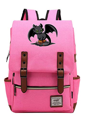 How to Train Your Dragon Toothless Backpack Cosplay Rucksack Schultasche Tagesrucksack Teenager Rosa