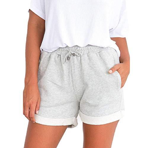 U/A Mujeres Pantalones Cortos Pantalones Calientes Casual Sueltos Cortos Playa Chica De Cintura Alta Pantalones Cortos Señora Cintura Elástico Envío de la Gota