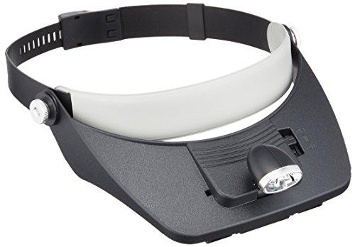 TSK ヘッドルーペ 最大倍率3.5倍 レンズ径115×50mm LEDライト付き 4種のレンズ付 アジャスターバンドタイプ HD-001