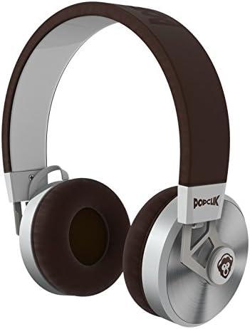 wholesale PopClik 2 ONE Headphones Brown Leather Elegance and Soft Spoken popular Steel 40 mm Neodymium Magnet Driver Over wholesale The Ear online sale