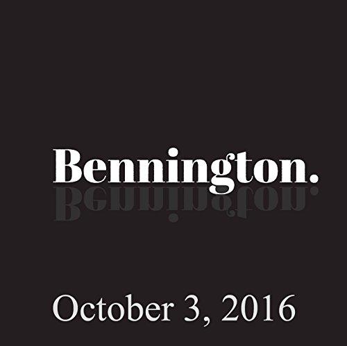 Bennington, October 3, 2016 audiobook cover art