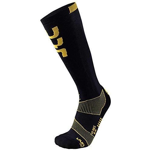 UYN Herren SKI EVO Race Man Unterhemd, Black/Yellow, 42/44