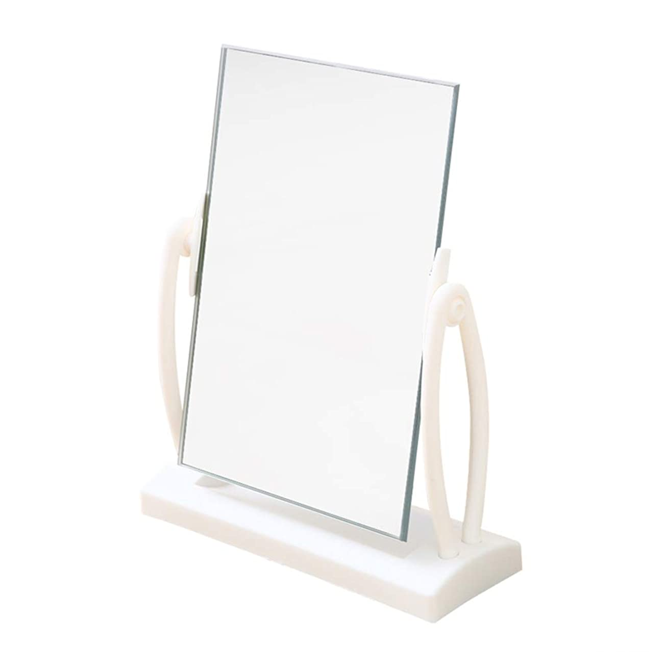 ずるいお風呂を持っている理容師CSQ 美容ミラー、18 * 6 * 19.5センチ-プラスチックデスクトップ寮の部屋学生ホワイトミラークリエイティブhdドレッシングテーブル片面化粧鏡 メイクアップとミラー (サイズ さいず : 18*6*19.5cm)