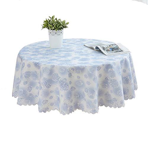 SKkyer Ronde PU tafelkleden Easy Care Dinning Table Cover Waterdichte Olie-Proof Spill-Proof Duurzame Tafeldoek