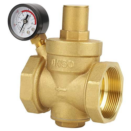 HGFHGDas für die meisten Leitungswassergeräte geeignete Messing-Wasserdruckreduzierventil BSP DN50 aus Messing kann den Durchfluss auf 0,05 bis 0,8 MPa einstellen
